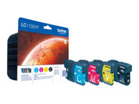 Brother LC1100HY Value Pack - 4-pack - Høy ytelse - svart, gul, cyan, magenta - original - blekkpatron - for Brother DCP-6690CW, MFC-5890CN, MFC-6490CW LC1100HYVALBPDR