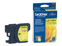 Brother LC1100Y - Gul - original - blekkpatron - for Brother DCP-185, 385, 395, 585, J715, MFC-490, 5490, 5890, 5895, 6890, 790, 795, 990, J615 LC1100Y