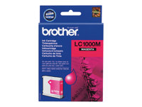 Brother LC1000M - Magenta - original - blekkpatron - for Brother DCP-350, 353, 357, 560, 750, 770, MFC-3360, 465, 5460, 5860, 660, 680, 845, 885 LC1000M